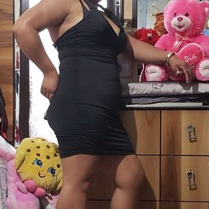 windsor Dresses - Windsor   black ruched mini dress size large